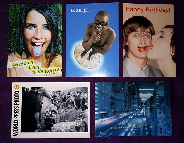 Conjunto de 22 postais (p/coleção)