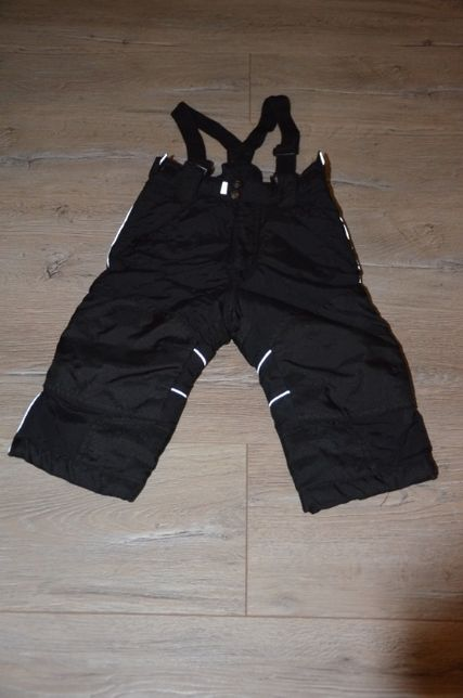 Spodnie Ocieplane Zimowe Czarne LINDEX rozm.86