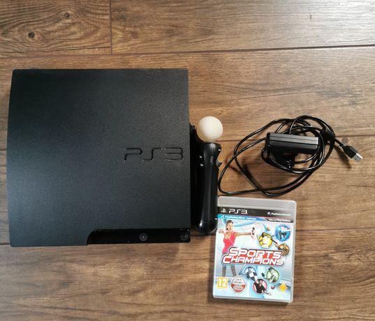 Konsola PlayStation 3 z kamerką move i kinektem
