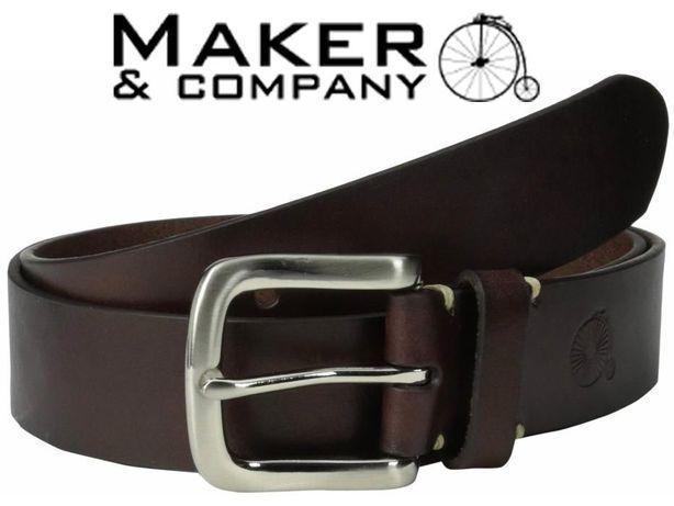 Ремень кожаный _ Maker and Company (Brown)