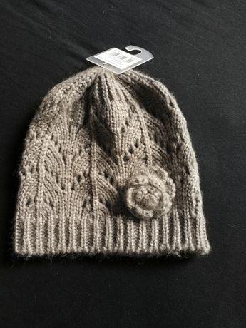 Ażurowa szara czapka Tu rozm 3-4 lata