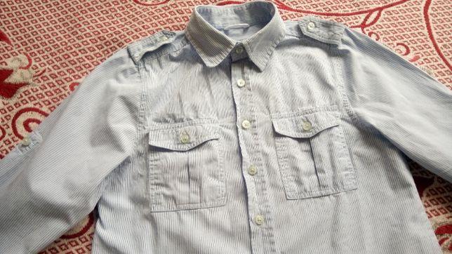 Рубашка рубашечка в полоску 4-5,5 лет