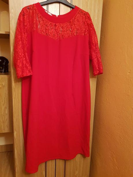 Sprzedam czerwoną sukienkę r.50