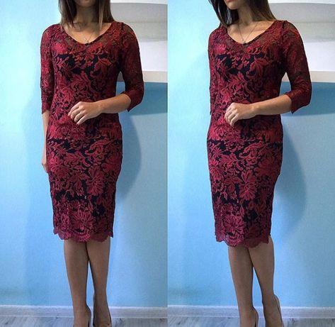 Платье бордовое 46рр