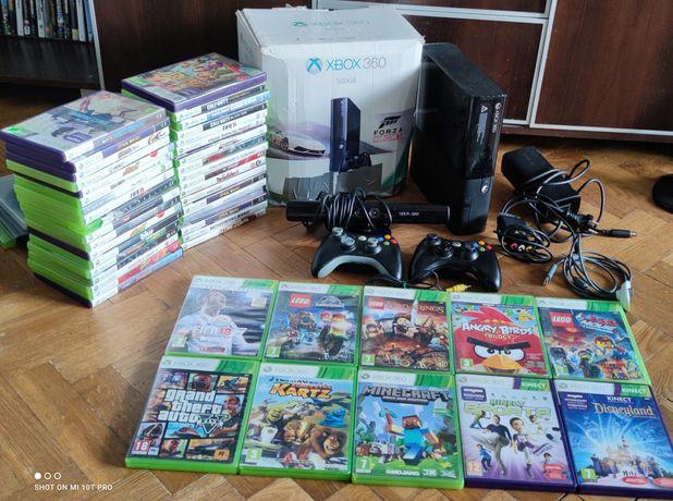 Xbox 360 Najnowszy model E Pudełko 2 Pady Kinect Komplet Zamiana Ps4