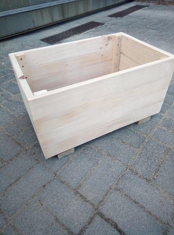 Skrzynka drewniana donica