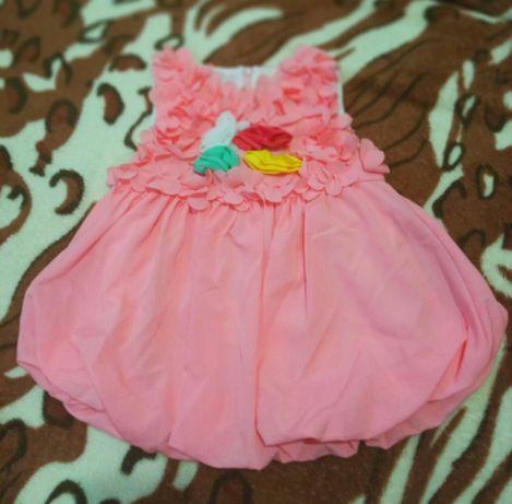 Платье на малышку 9-12 месяцев
