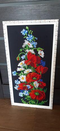 Картина вышита чешским бисером