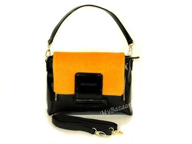 Torebka damska Monnari 6390 czarna żółta