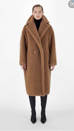 Maxmara teddy camel misiek futerko karmelowe płaszcz od ręki S