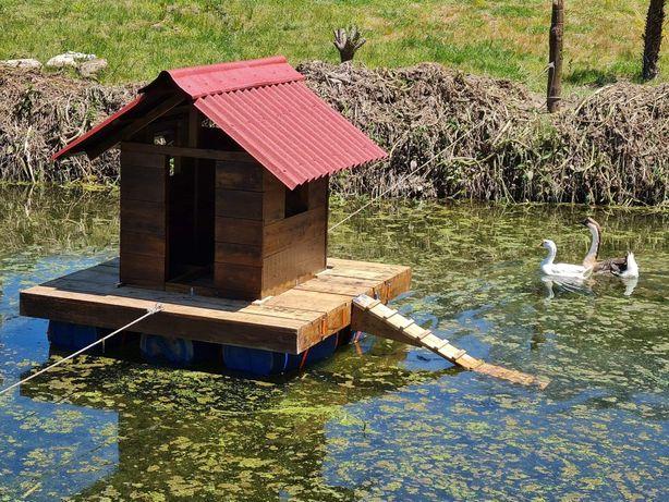 Casa flutuante para gansos ou patos
