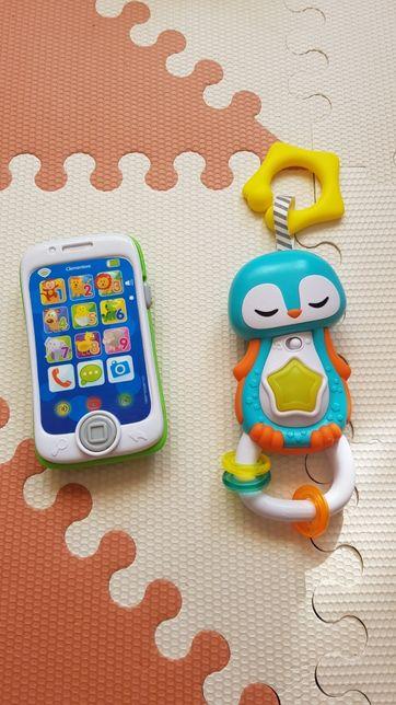 Clementoni interaktywny pingwinek teleron smartfon