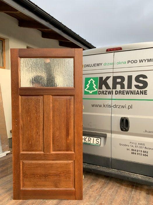 Drzwi wewnętrzne drewniane SOSNOWE z oscieżnicą Dostępne od ręki Grzybno - image 1