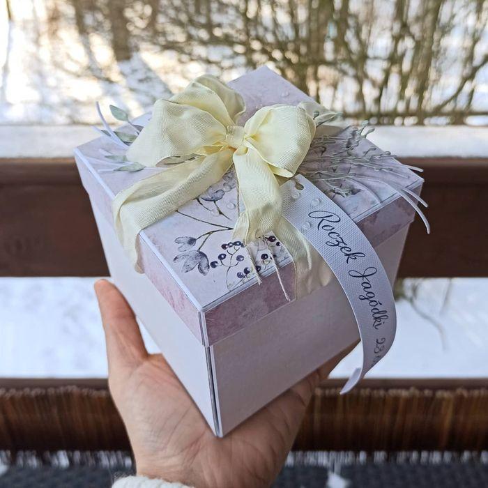 Pudełko kartka pudełko exploding box chrzest komunia urodziny Jamki - image 1