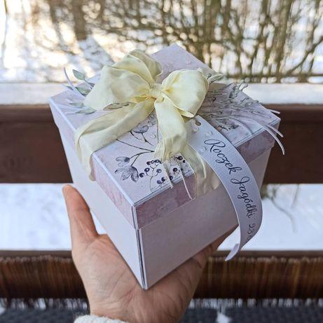 Pudełko kartka pudełko exploding box chrzest komunia urodziny