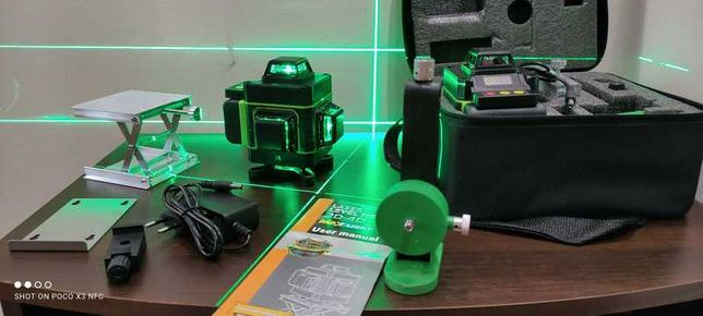 Лазерный профессиональный уровень HILDA 4D 16 линий лазерний рівень
