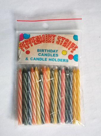 Свечи праздничные на торт (в упаковке: 22шт.)