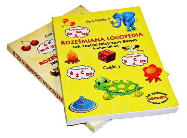 Roześmiana Logopedia NOWA folia 320 stron A4 tom I lub II wyraźna mowa