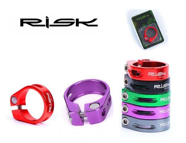 Obejma zacisk RISK aluminium 2 kolory 34,9mm opakowanie BOX tylko 4szt