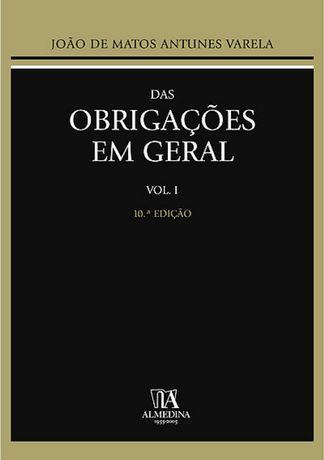 """Manual """"Das Obrigações em Geral"""", Antunes Varela"""