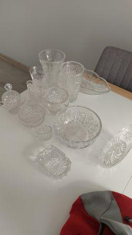Kryształy PRL, szkło ozdobne, wazon