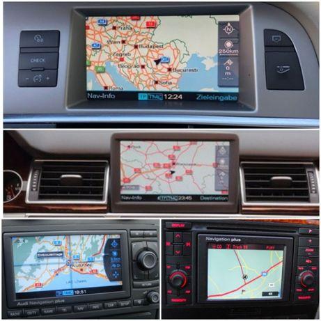 Mapy nawigacji Audi 2020 A3 A4 A5 A6 A8 Q7 Rns-e mmi 2g Mfd DX