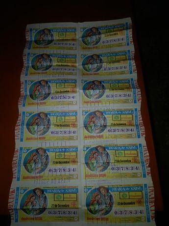 Bilhete 037834 de Lotaria do NATAL 1976