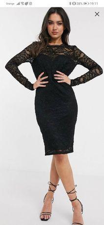 Mini koronkowa sukienka nowa marki London