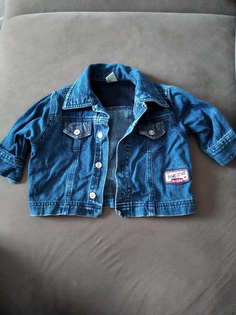 Jeansowa kurtka 74 dla chłopca lub dziewczynki