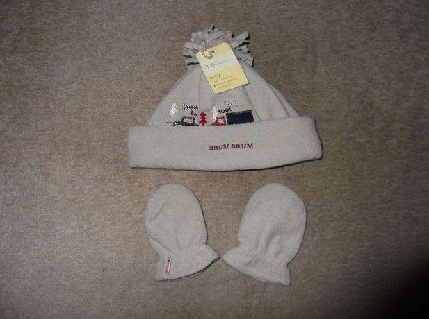 Komplet czapka, czapeczka + rękawiczki dla Dziecka niemowlaka