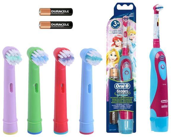 Набор Детская электрическая зубная щетка Oral b DB4. 510. К + 4 насадк