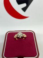 Złoty pierścionek z brylantem 0.36ct