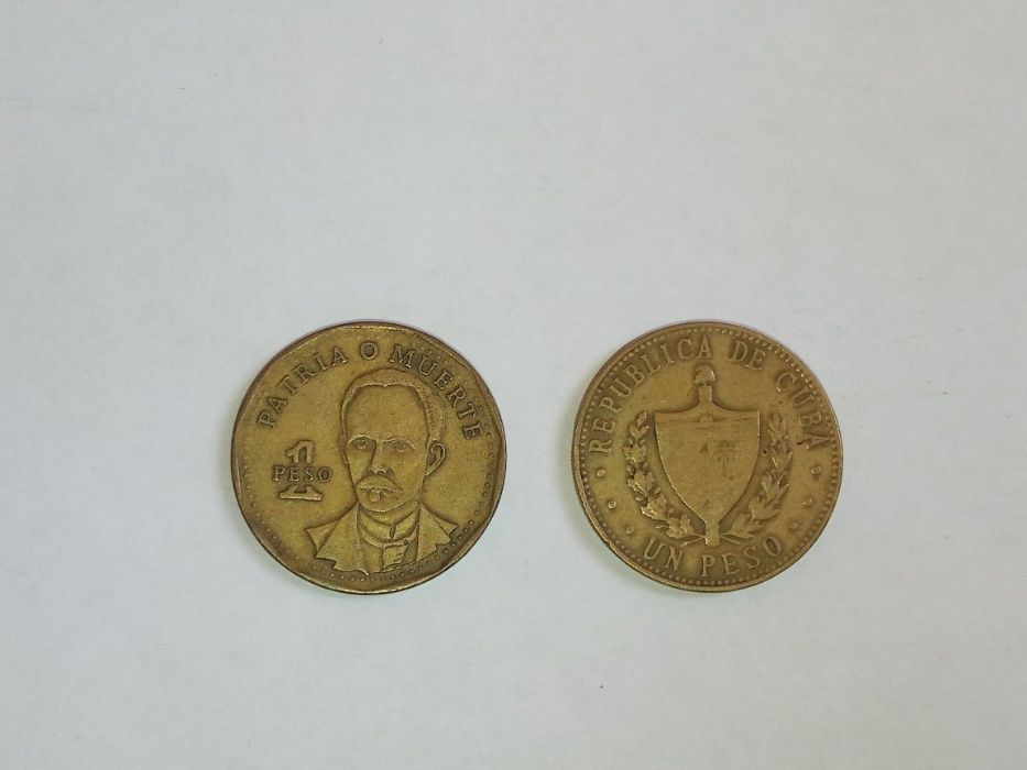 Монета 1 песо Куба 1987 и 2001 года Киев - изображение 1