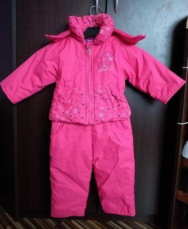 Komplet zimowy spodnie na szelkach i kurtka