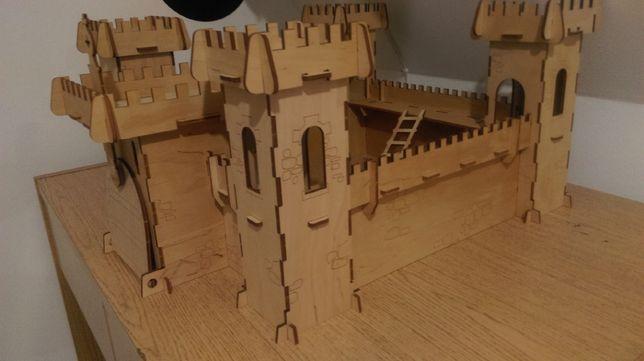 Большой детский конструктор из дерева Неприступная крепость.