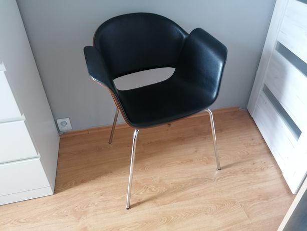 Duże krzesło fotel skórzany