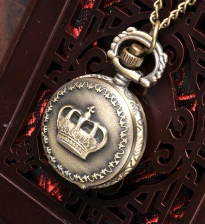 Relógio de Bolso Estilo Vintage Coroa Real Monarquia