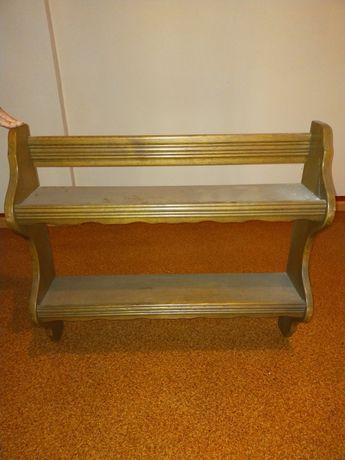 Dwie półki drewniane