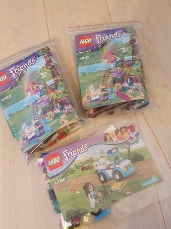 Lego friends 41059 Domek na drzewie 41086 Karetka weterynarza