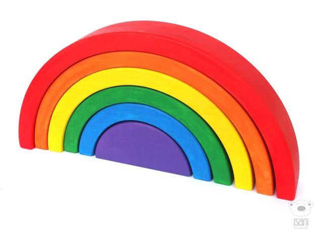 Tęcza kolor 6-elementowa drewniana Montessori zabawka