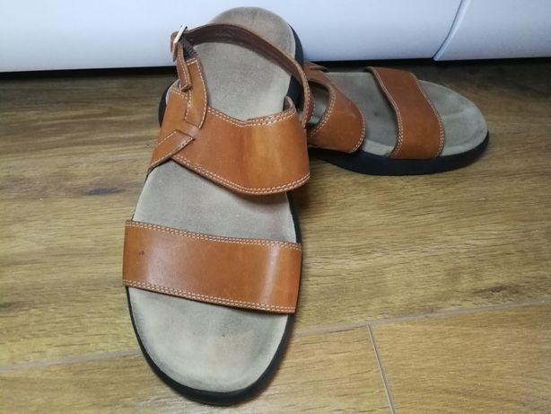 Skórzane sandały Ralph Lauren rozmiar ok 40