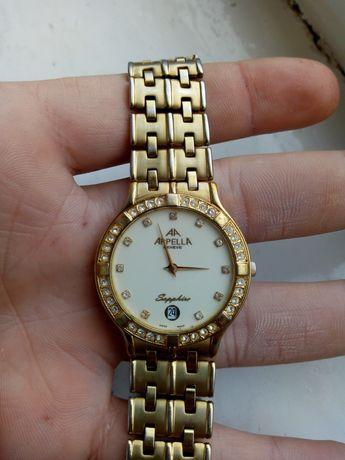 Часы женские Appella(Швейцария) позолота 14 к.