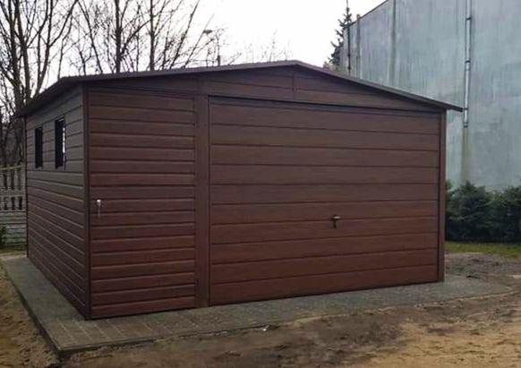 Garaż blaszany 4x6 blaszak drewnopodobny PREMIUM Profil Szybki termin