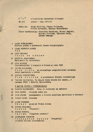 PULS nieregularny kwartalnik literacki (nr 3-4) 1978 do 1979