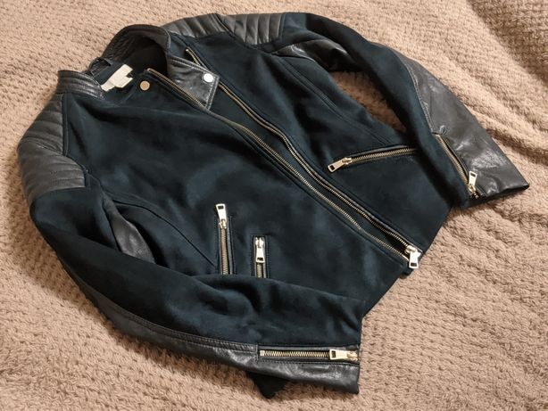 Куртка-косуха h&m изумрудная