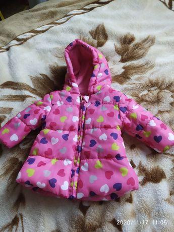 Тепла курточка для дівчинки