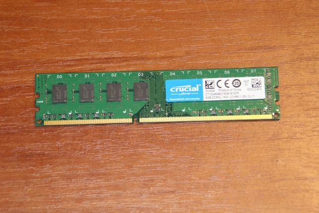 Crucial CT102464BD160B.M16FP 8Gb DDR3 PC3L-12800 1600MHz