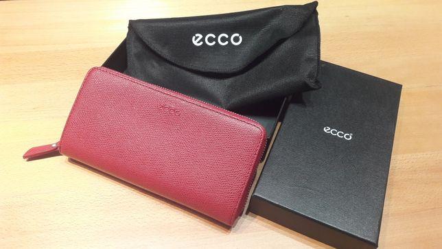 Красный кошелек клатч ECCO новый