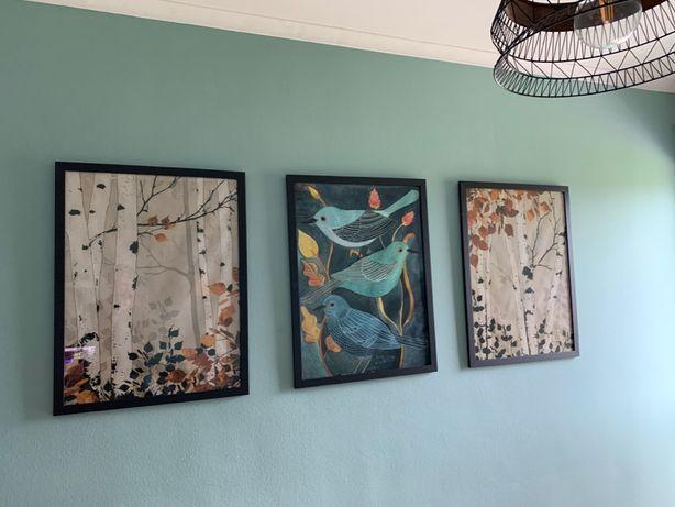 Conjunto 3 quadros estilo nórdico 85x65