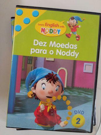 """Coleção """"Learn English with Noddy""""  5 DVDs (infantil)"""